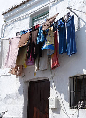 Photograph - Wash Day - Clothes Line by Phil Banks