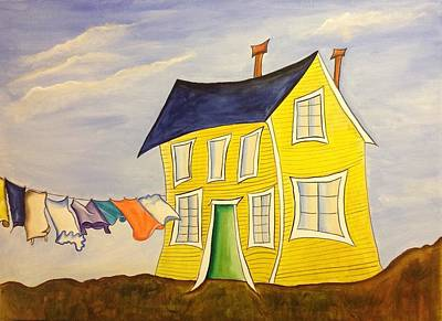 Laundry Painting - Wash Day  by Heather Lovat-Fraser