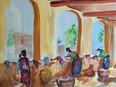 Mayan Painting - Wash Day In Antigua by Stewart Haile