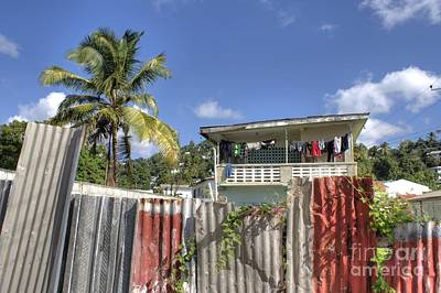Photograph - Wash Day In Castries by David Birchall