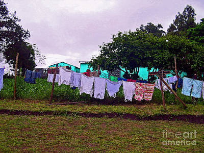 Photograph - Wash Day In South Africa by Karen Adams