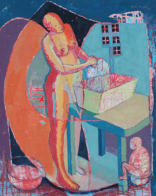 Jamaican Woman Painting - Wash Day by John Powell
