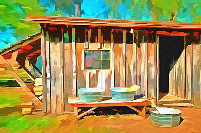 Old Washboards Painting - Wash Day by L Wright