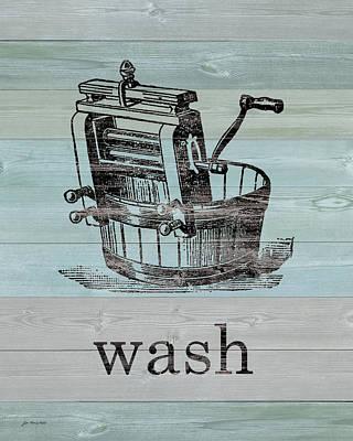 Wash On Wood Art Print