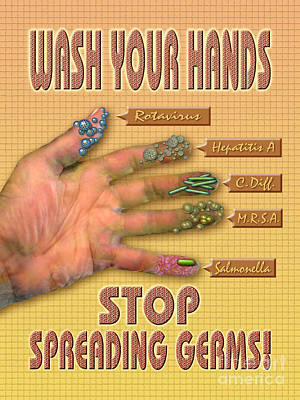 Photograph - Wash Your Hands Stop Spreading Germs by Chris Bjornberg