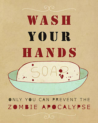 Wash Zombie Art Print by Lisa Barbero