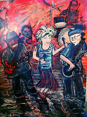 Painting - Washboard Jo Guitar Shorty And Good Ol Steve by Richard  Hubal