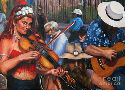 Painting - Washboard Lissa On Fiddle by Beverly Boulet
