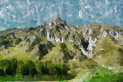 Mountains Painting - Washed Out by Ayse Deniz