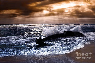 Washed Out To Sea - Outer Banks Art Print by Dan Carmichael