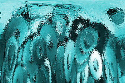 Digital Art - Washer Falls Abstract by Ernie Echols