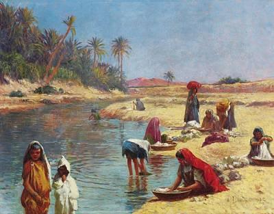 Jerusalem Painting - Washerwomen by Celestial Images