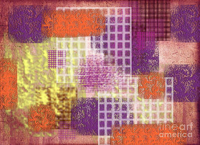 Abstract Collage Digital Art - Washi Papers 1 by Delphimages Photo Creations