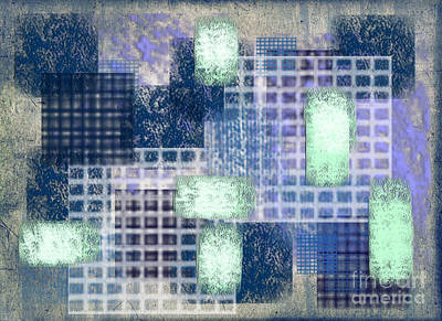 Abstract Collage Digital Art - Washi Papers 2 by Delphimages Photo Creations