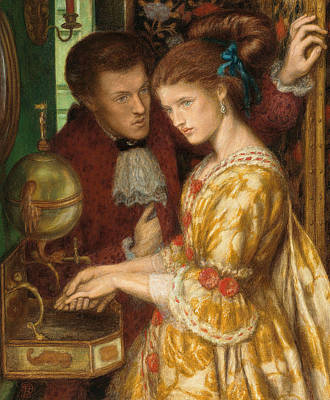 Hand Washing Painting - Washing Hands by Dante Gabriel Charles Rossetti