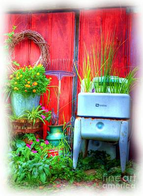 Flower Planter Photograph - Washing Machine Art by Mel Steinhauer