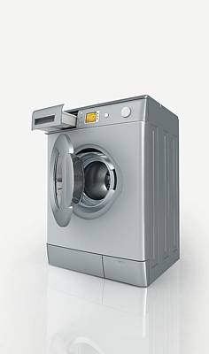 Washing Machine Photograph - Washing Machine by Dorling Kindersley/uig
