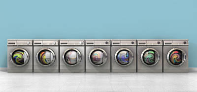Copy Digital Art - Washing Machine Full Single by Allan Swart