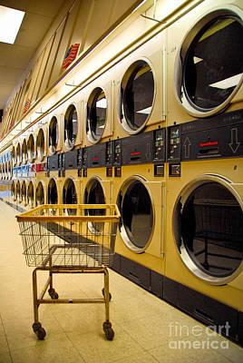 Washing Machines At Laundromat Art Print by Amy Cicconi