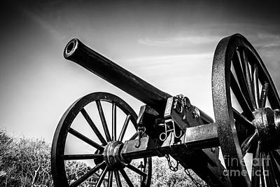 Washington Artillery Park Cannon In New Orleans Print by Paul Velgos