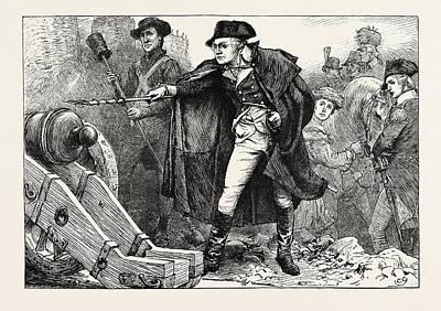 Washington At The Siege Of Yorktown, American Revolutionary Art Print by American School