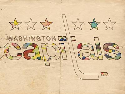Painting - Washington Capitals Logo Art by Florian Rodarte