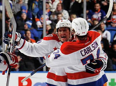 Photograph - Washington Capitals V New York Islanders by Bruce Bennett