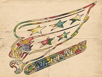 Painting - Washington Capitals Vintage Poster by Florian Rodarte