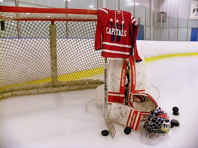 Photograph - Washington Capitals Winter Classic 2015 Goalie Jersey by Lisa Wooten