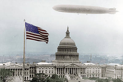 Washington Capitol And Blimp Original