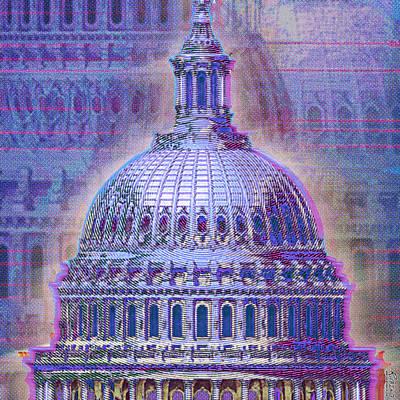 Dome Painting - Washington Capitol Dome by Tony Rubino