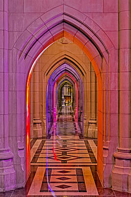 Photograph - Washington Cathedral Light Show by Susan Candelario