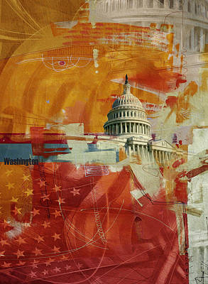 Washington City Collage 4 Art Print