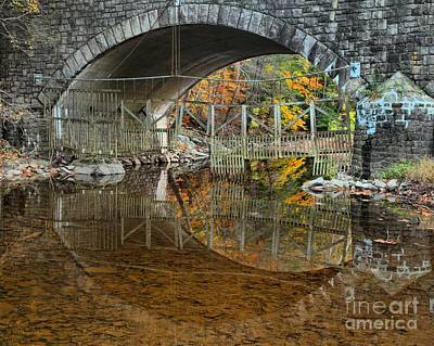 Photograph - Washington Crossing Stone Bridge by Adam Jewell