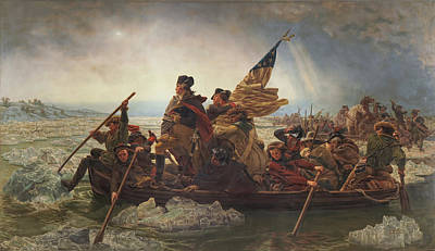 Painting - Washington Crossing The Delaware by DC Photographer
