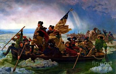 Painting - Washington Crossing The Delaware River by Doc Braham