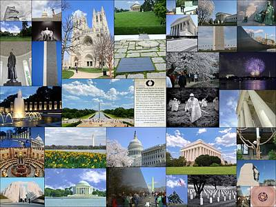 Photograph - Washington D. C. Collage  by Allen Beatty