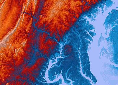 Washington D C Map Art Print by Paul Hein