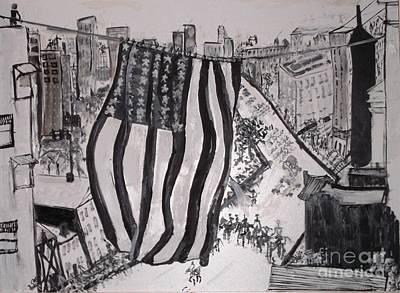 Painting - Washington D.c. 1920 Parade by Leslie Byrne