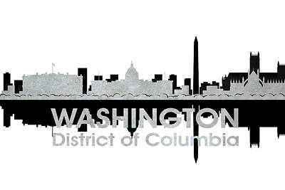 Abstract Skyline Mixed Media - Washington DC 4 by Angelina Vick