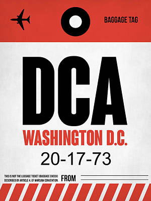 Washington D.c Digital Art - Washington D.c. Airport Poster 1 by Naxart Studio