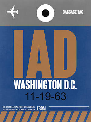 Washington D.c Digital Art - Washington D.c. Airport Poster 4 by Naxart Studio