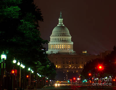 Photograph - Washington Dc At Night by Nick Zelinsky