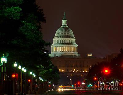 Photograph - Washington Dc At Night by Nick Zelinsky