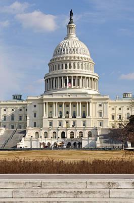 Washington Dc Capitol Of The United States Art Print by Brandon Bourdages