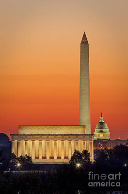 Photograph - Washington Dc Dawn by Brian Jannsen