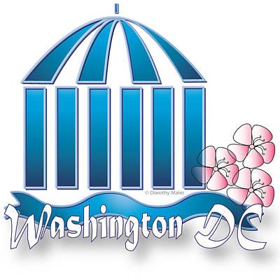 Art Print featuring the digital art Washington Dc by Dorothy Maier