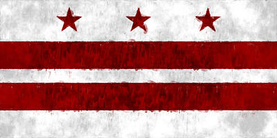 Washington D.c Digital Art - Washington D.c. Flag by World Art Prints And Designs