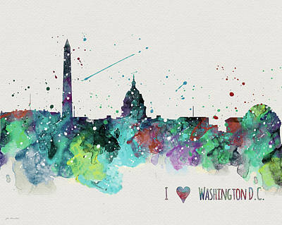 Washington Dc Painting - Washington Dc by Jo Moulton