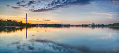Jefferson Memorial Wall Art - Photograph - Washington Dc Panorama by Sebastian Musial